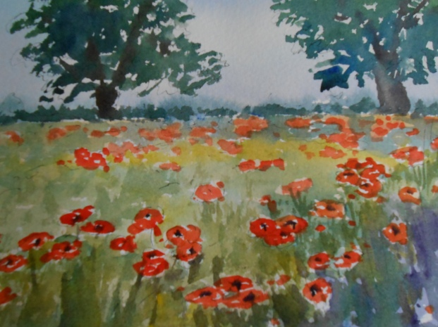 Poppies by the Burford Road